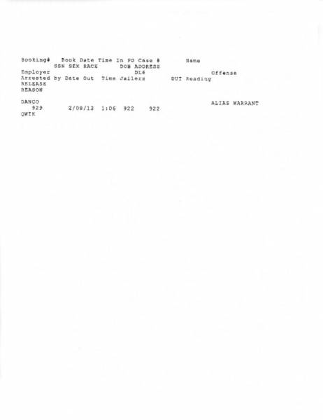 Dothan City Jail Docket for 02-07-13