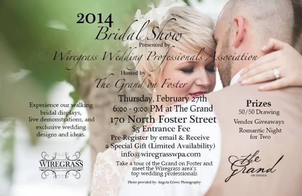 WWPA's 2nd Annual Bridal Show at The Grand on Foster!