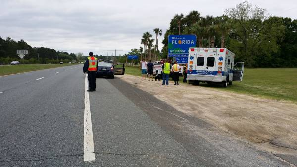 Wreck With Injuries Just Inside Florida