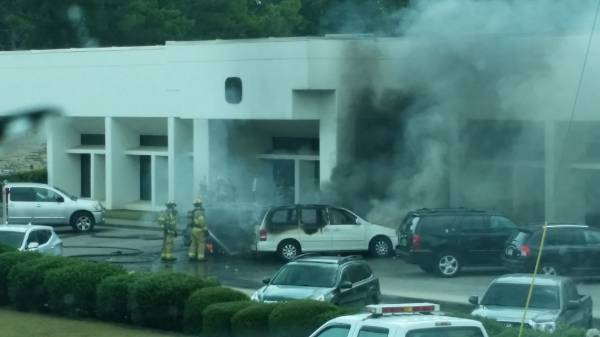 UPDATED at 3:30 PM - Car Fire At Northside Post Office