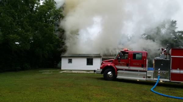 UPDATED @ 1:19 PM BREAKING NEWS:   Structure Fire In Cowarts Fully Involved