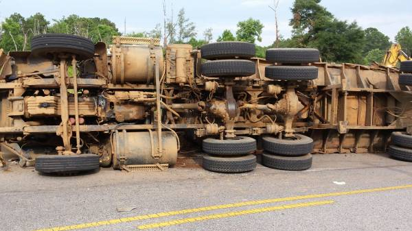 Semi Over Turns on Murphy Mill Road