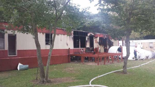 Mobile Home Fire in Napier Field