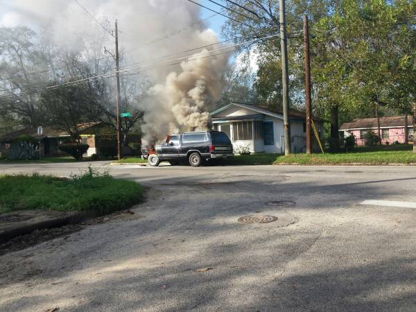 Vehicle Fire on East Stough Street