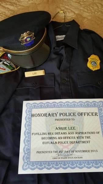 Eufaula Police Make Ladies Dream Come True