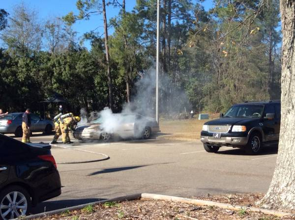 UPDATED @ 1:03 PM. 12:54 PM   Vehicle Fire At Laurel Oaks