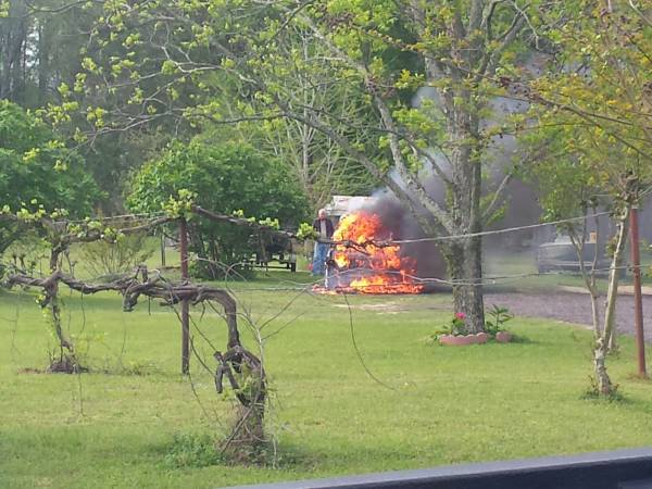 8:30 AM... Vehicle Fire on Johnny Ingram Road
