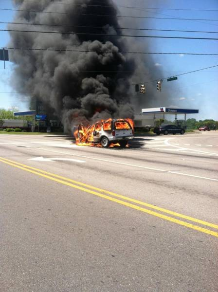 Vehicle Fire in Taylor