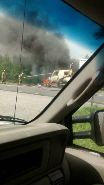 Dale County Vehicle Fire. Fully Engulfed