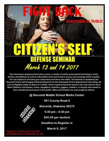 Citizen's Self Defense Seminar