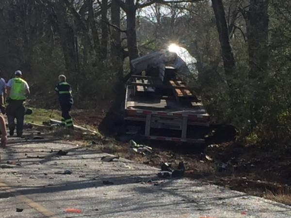 Semi verse Jeep on Alabama 134 near Coffee County 625