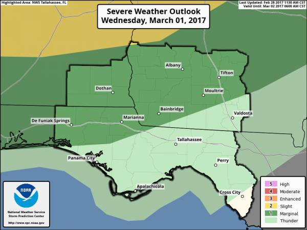 Update on Severe Weather Potential Wednesday Evening