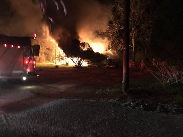 UPDATED at 9:35 PM with Scene Video... Fully Invovled Structure Fire in Ashford