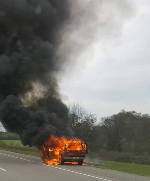 Car Fire on 84 East  and Curtis Mixon Road