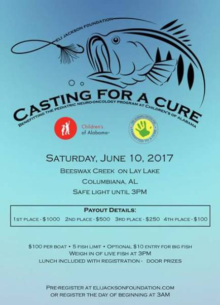 Casting for a Cure on Lay Lake