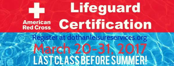 One last chance to get lifeguard certified before summertime!