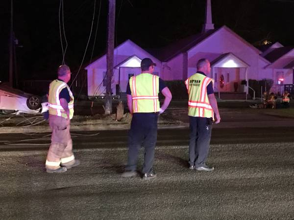 UPDATED @ 10:32 PM.  8:05 PM.  Overturned Vehicle John D. Odom and Napier Field Road - Power Outage