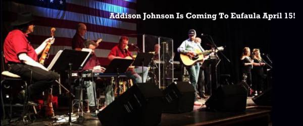 Addison Johnson Playing in Eufaula on April 15th