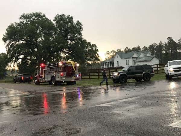 Power Line Down - Structure Fire Reported