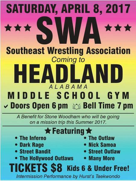 Wrestling Coming to Headland
