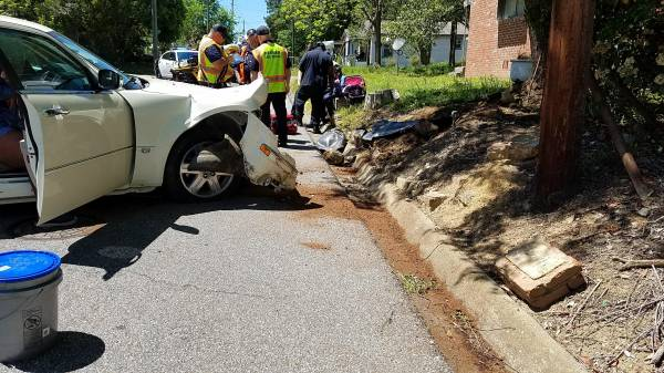 1:01 PM  Motor Vehicle Accident Vehicle verse Tree on East Burdeshaw