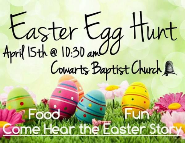 Cowarts Baptist Church Easter Hunt