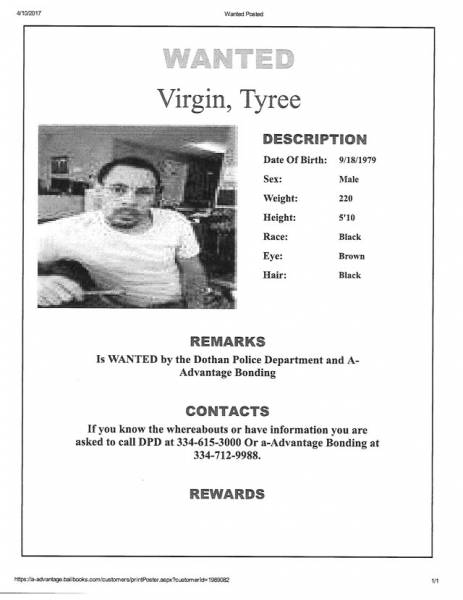 WANTED FUGITIVE