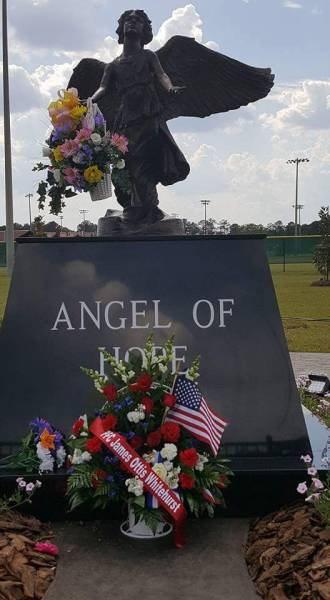 PFC James O. Whitehurst honored and remembered at the Angel of Hope Statue at Westgate Park