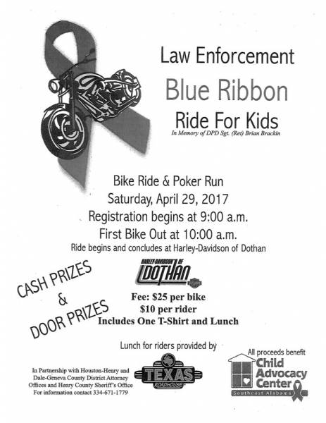 Henry County Law Enforcement Blue Ribbon Rida for Kids