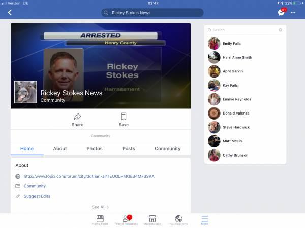 The Real Rickey Stokes News verses the Fake Rickey Stokes News on FACEBOOK