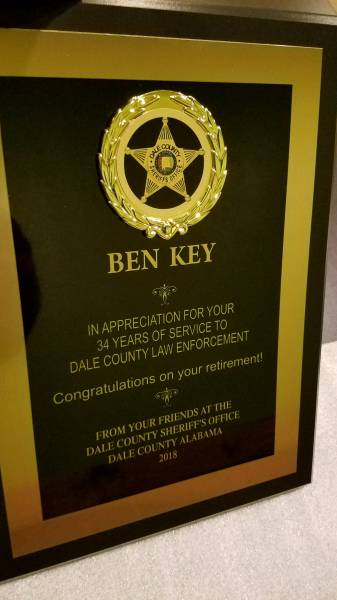 Dale County Sheriff's Office Lt. Ben Key Retires