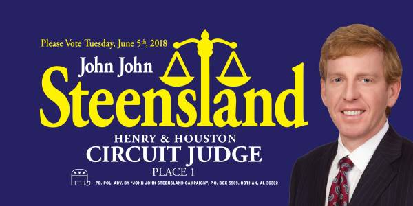 John Steensland for Circuit Court Judge Place 1