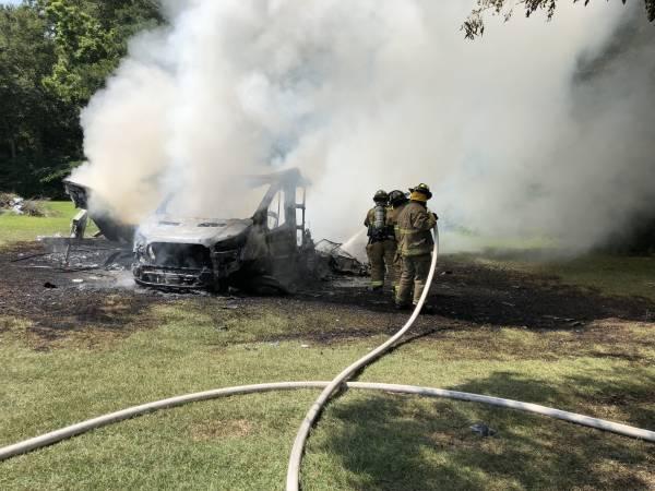 11:00 AM.   Camper Fire In Kinsey