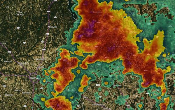 Severe Thunderstorm Warning Henry and Houston Counties