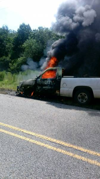 10:41 AM... Vehicle Fire in Lucy
