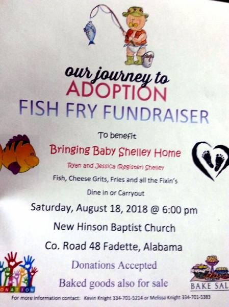 Fish Fry Benefit for Baby Shelley this Saturday!