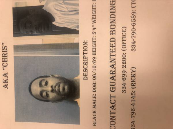 WANTED FUGITIVE: CHRISTOPHER MCKINNIE!!!! COULD BE WITH HIS SISTER IN ENTERPRISE KIMEASHA CURRY