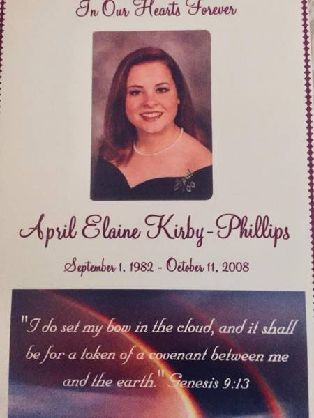 HAPPY HEAVENLY BIRTHDAY APRIL KIRBY -PHILLIPS