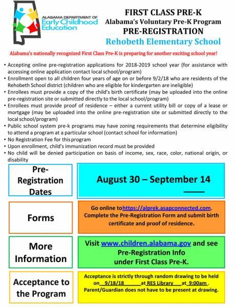 Alabama's Voluntary Pre-K Program Comes to Rehobeth
