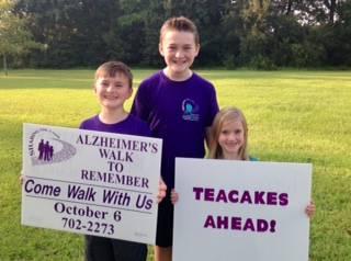 Teacakes for the Alzheimer's Resource Center!