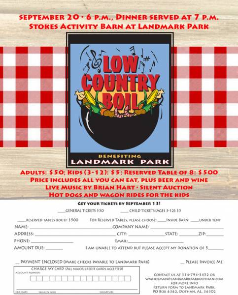 Get Your Low Country Boil Tickets By Sept. 13