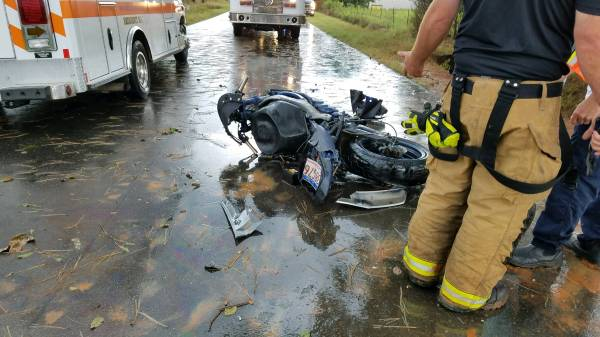 12:32 PM... Vehicle vs Motorcycle on South Bay Springs Road