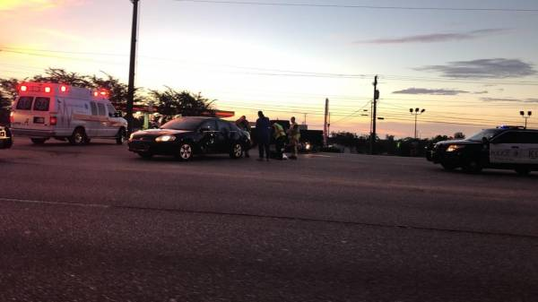 6:09 AM....Vehicle vs Motorcycle in the 1100 Block of the Circle