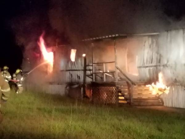 12:22 AM... Mobile Home Fire on North CountyRoad 75 in Pansey