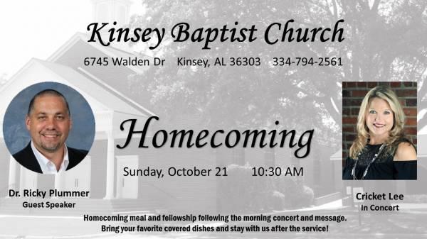 Kinsey Baptist Church Homecoming