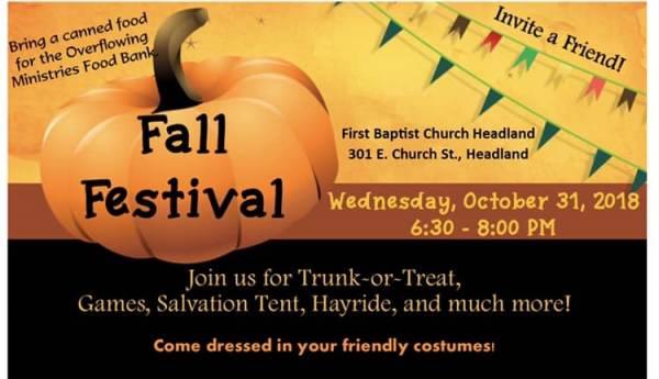 FBC Headland Fall Festival is Tonight