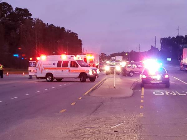 UPDATED at 7:00 AM.  HAPPENING NOW.  Motorcycle Wreck Serious On Ross Clark Circle