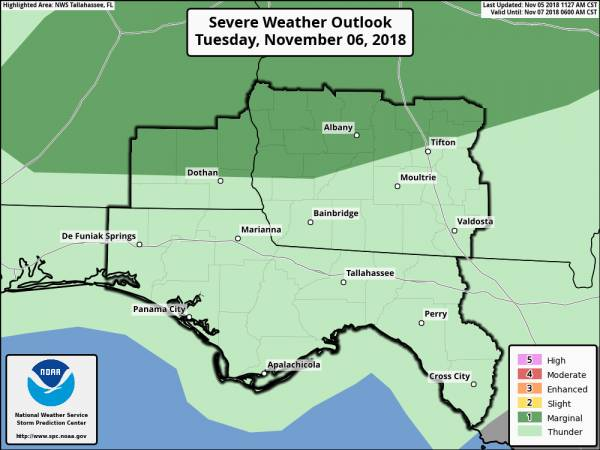 Marginal Risk of Severe Storms on Tuesday