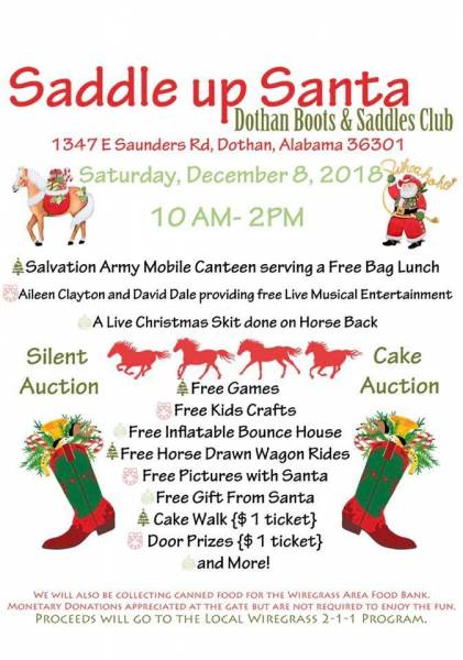 Saddle Up Santa Christmas Festival December 8, 2018