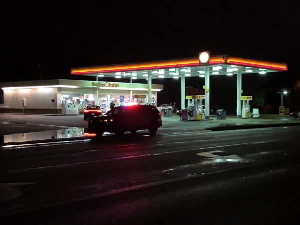 11:34 PM.  Shell Station on Hartford Highway - Victim Of Holdup
